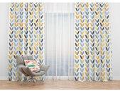 Rideau double voilage MARKAEV motif coloré