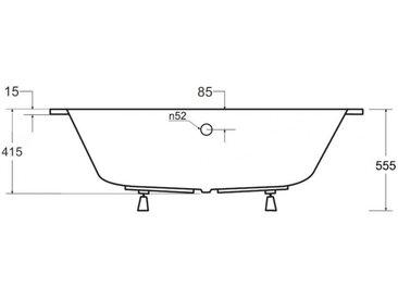 Baignoire d'angle GAUCHE INTIMA 150 ou 160 cm AVEC TABLIER - 160cm