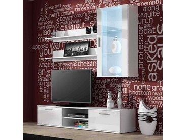 Ensemble meuble TV SOHO 2 blanc