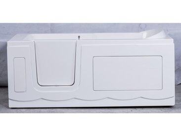 Baignoire à porte avec balnéo SAMAR 170x75x61 cm - Gauche