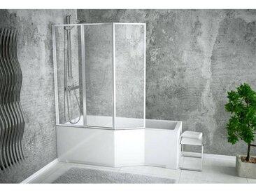 Baignoire asymétrique INTEGRA 150/170 cm x 75 cm + pare baignoire - Gauche - 150cm