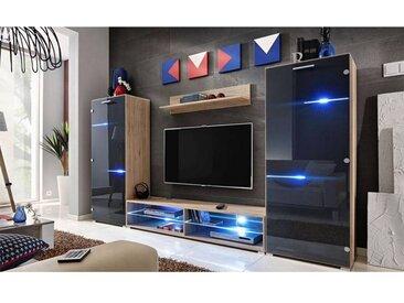 ENSEMBLE MEUBLE TV AREZZO II CHENE