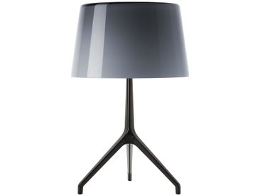 Foscarini Lampe de table Lumiere XX - XXS Ø26 x Hauteur 40 cm - Cromo Nero - gris