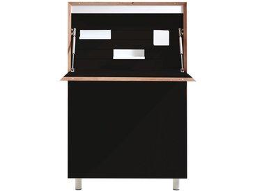 Müller Möbelwerkstätten Secrétaire Flatmate - noir - technologie LED avec prise électrique et prise USB