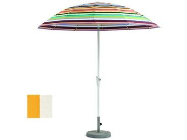 Weishäupl Parasol Pagode - grand format - Ø 240 cm - alu/blanc - WeishaeuplAcrylGelbWeiss