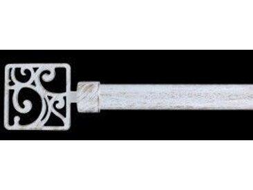 Kit de tringle extensible (L120 - L210 cm / D28 mm) Masarine Blanc et or