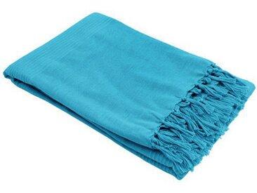 Jeté de canapé (220 cm) Lana Bleu turquoise