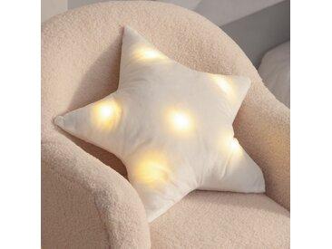 Coussin (42 cm) LED Etoile Blanc