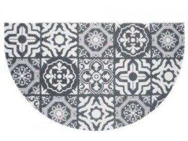 Tapis d'entrée demi-lune (75 cm) Lisbonne Gris
