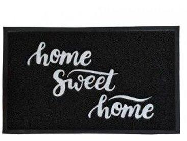 Tapis d'entrée (75cm) Home Sweet home Noir