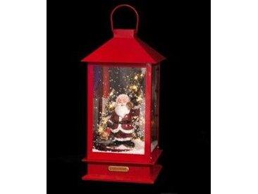 Lanterne de Noël lumineuse et musicale Rouge  LED