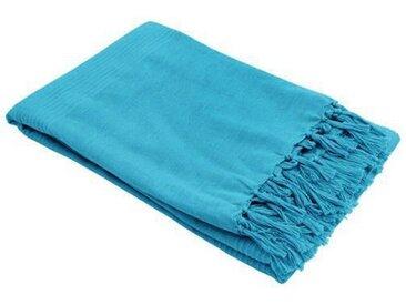 Jeté de canapé (150 cm) Lana Bleu turquoise