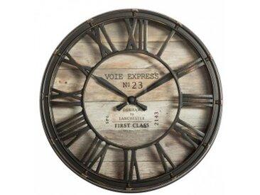 Horloge Vintage (D21 cm) Marron