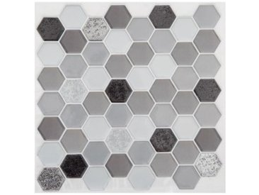 Lot de 2 planches stickers Hexa Noir