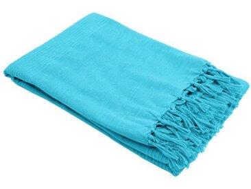 Jeté de canapé (240 cm) Lana Bleu turquoise