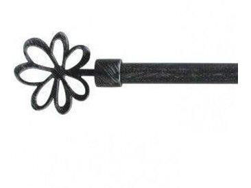 Kit de tringle extensible (L120 - L210 cm / D16 mm) Ninon Noir et Argent