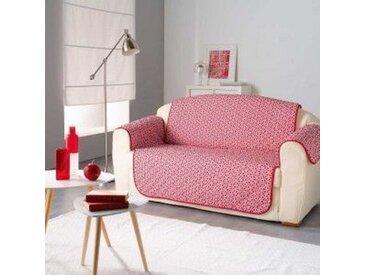 Housse de canapé 3 places Kiria Rouge