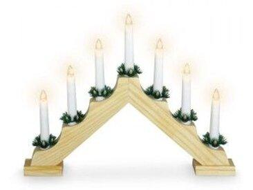 Chandelier lumineux en bois Oxya Or