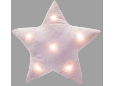 Coussin (42 cm) LED Etoile Rose