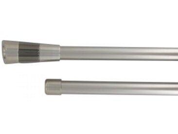 Kit de tringle extensible Double barres (L210 - L380 cm / D19 mm) Gabin Argent