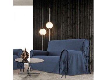 Housse de canapé 2 places Stella Bleue