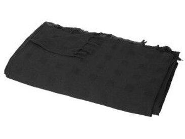 Jeté de canapé (250 cm)Carré Noir