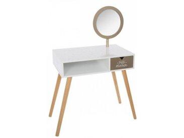 Coiffeuse miroir Golden Blanche