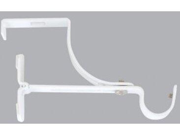 Support à tringle pour caisson de volet roulant (L135 / D20 mm) Blanc satiné