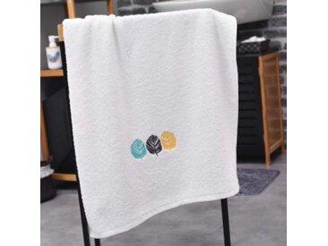 Serviette de bain (70 x 130 cm) Fougerys Blanche