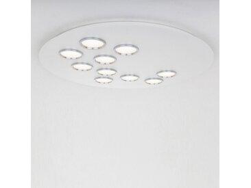 BRAC - plafonnier blanc anneaux titane - Tailles - diamètre 75 cm