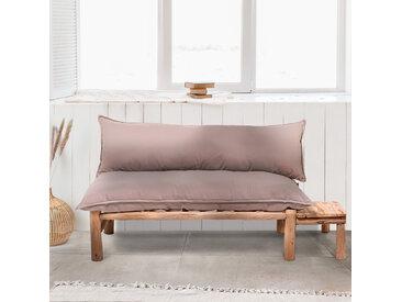 Canapé en branche de teck massif avec tablette MADE