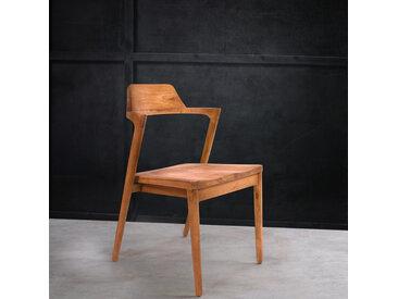 lot de 2 chaises design en bois massif de teck ADA