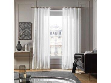 Voilage à galon fronceur Santorini blanc, 145x300 cm, Polyester 100% - MADURA