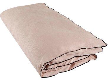 Housse de bout de lit Carlina rose 90x200 cm, Lin 100% (Broderie) Polyester 100%, Linge de lit - MADURA
