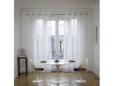 Voilage à oeillets Thasos blanc, 145x280 cm, Polyester 100% - MADURA