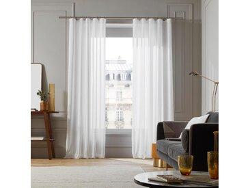 Voilage à galon fronceur Milos blanc, 200x308 cm, Polyester 100% - MADURA