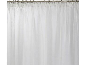 Voilage à galon fronceur Thasos blanc, 200x280 cm, Polyester 100% - MADURA