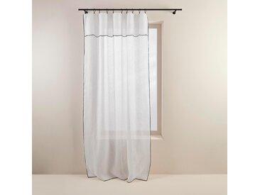 Voilage panneau Shadow blanc, 145x280 cm, Lin 100% - MADURA