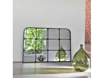 Miroir fenêtre paysage en métal