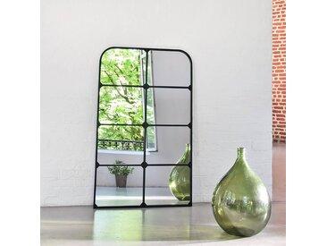 Miroir fenêtre portrait en métal