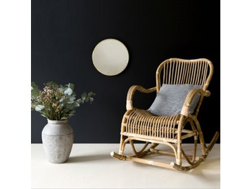 Rocking chair en rotin naturel Moka