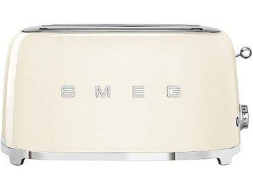 Smeg Grille-pain 4 tranches TSF02 - crème/laqué/LxHxP 41x20,8x21,5cm/6 niveaux de brunissement/1500W