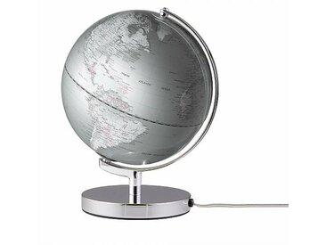 emform Globe avec lumière LED Ø25cm Terra Light - argent/H 32cm / Ø 25cm