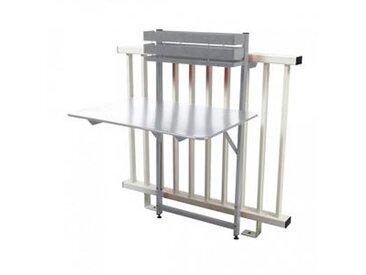 fermob Bistro - Table de Balcon - blanc coton/mat granulaire/pliant/77x57x115cm