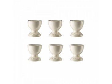 Le Creuset - Set de 6 coquetiers - crème/brillant