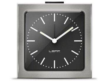leff amsterdam LEFF Block - Réveil - noir/acier inoxydable/BxH: 8.5x8.5x6cm/types chiffres: index