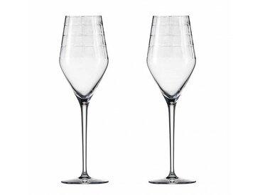 Zwiesel 1872 Hommage Carat - 2 verres à champagne - transparent/avec point effervescence/269ml/H24cm/Lavage à la main recommandé par le fabricant