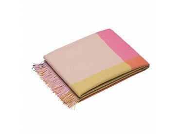 Vitra Colour Block - Couverture en laine - rose foncé beige/laine de hautes terres péruvienne/204x130cm