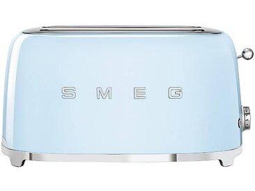 Smeg Grille-pain 4 tranches TSF02 - bleu clair/laqué/LxHxP 41x20,8x21,5cm/6 niveaux de brunissement/1500W