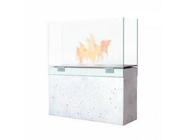 Conmoto Muro - Cheminée au bio-éthanol - Fin de série - gris/transparente/H70cm
